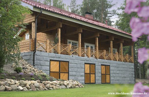 Variation - Blockhaus als Hanghaus