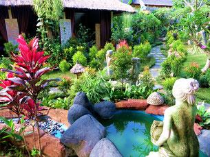 Hotelanlage in Ubud auf Bali