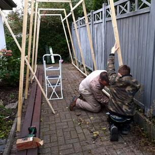 Baublog 2 - Aufbau von Abschnitt 3 - Halloweenhaus Lüneburg