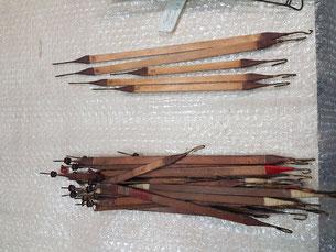 Vergettes de l'abrégé de tirasse avant et après restauration