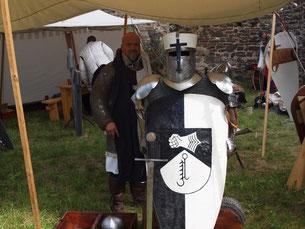 Ritter Wikinger Vikings Lagerleben Mittelalter Besteck Tasche aus Leder