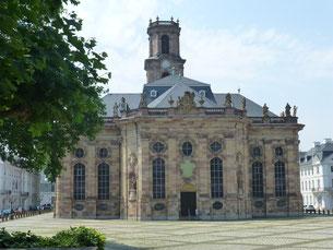 Ludwigskirche mit Ludwigsplatz in Saarbrücken