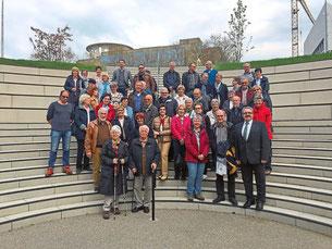Karl Rombach (unten rechts) empfing die Mitglieder des Geschichts- und Heimatvereins Villingen. Foto: CDU Foto: Schwarzwälder Bote