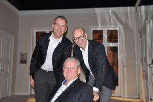 v. li.  Jens Peter Cordes, Projektkoordinator Werner Dressler und Ingo Nürnberger