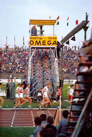 Olympic athletics competition. Copyright: OMEGA.