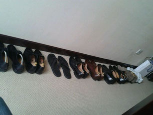 Some of my shoes, and a few which were at my place for a visit.