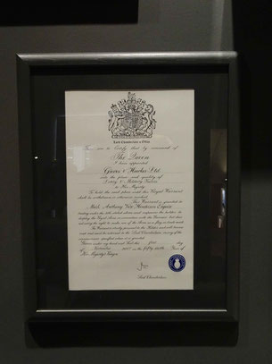 Royal Warrant granting document. Photo: Men's Individual Fashion.