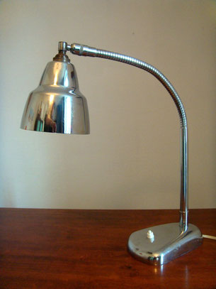 Lampe de bureau industrielle flexible chrome vintage