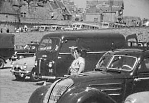Parking du mont saint-michel dans les années 50