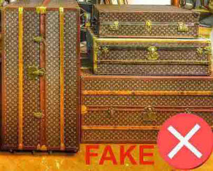 Malle Louis Vuitton fausse contrefacon