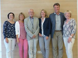 Die neue Vorstandschaft  (Von links nach rechts: Vera Finn, Heidi Dennerlohr, Paul Weppler, Inge Meier, Alois Dorner und Edith Ehrnsberger.) Foto: Herbert Meier
