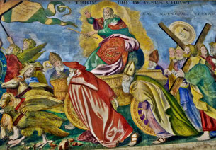 Le Triomphe du Christ, frise du XVIIIe siècle