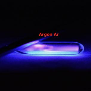 argon gas ampoule, excitable argon gas ampoule, argon gas for collection, rarefied argon gas ampoule, how to light up argon gas