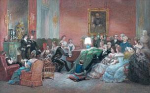 Un salon bourgeois typique du milieu du XIXe siècle. Les Delaune et Tilloy purent vivre dans cet environnement.