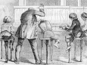 Dessin de Daumier, les enfants dans une filature