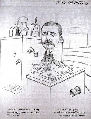 "Caricature extraite de ""Album de vie Flamande"" - 1906 - J 1254-12"