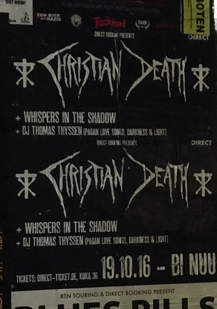 Christian Death in Berlin, 19. Oktober 2016
