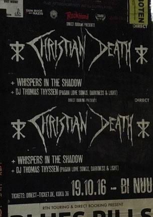 Christian Death in Berlin, 19. Oktober 2016