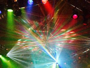 Lightshow im Hyde Park