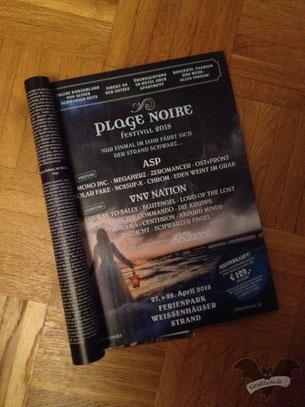Anzeige zum des Plage Noire-Festival 2018 / Foto: Gothamella