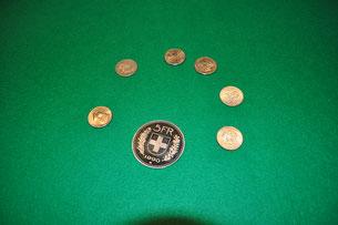 zaubern mit Münzen