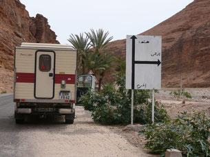 in Marokko mit der alten Tischer-Kabine