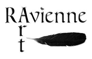 Ravienne Art Model - Logo, Schrift, Rabenfeder, Schwarz
