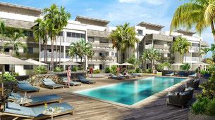 Nouvelle résidence d'appartement et penthouse les jardins du barachois tamarin ile maurice