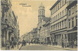 Weender Straße, Foto nach 1900. Stadtarchiv Göttingen