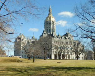 The Golden Dome of the Hartford State House Shines