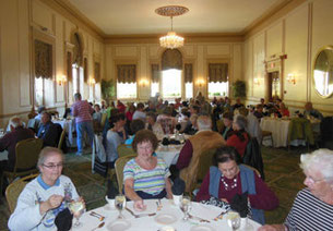 Our lunch in the Grand Ballroom of the Hawthorne Hotel