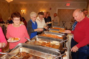 Turkey and Old-Fashioned Pot Roast were on our Buffet