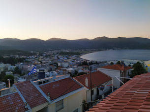 Sunset with sea view from Pelagos View, Nea Iraklitsa, Kavala