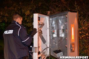 Automat in Hellersdorf gesprengt. Polizei ermittelt.