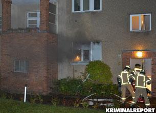 Rudolstädter Straße in Wilmersdorf. Mieterin(69) bei Brand in Wohnung verletzt.