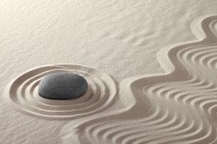 Stein im Sandgarten