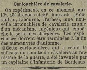 Extrait du journal Le mémorial des Vosges du 5 mai 1910