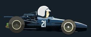 Pedro Rodriguez by Muneta & Cerracín - México Cooper Car Company - Cooper T81B - Maserati V12