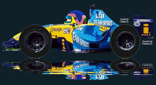 Jacques Villeneuve Jr by Muneta & Cerracín - Mild Seven Renault F1 Team