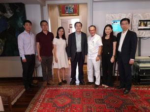 links beginnend: David Wang, Cui Yang, Tang Liyan, Liu Zhengfu, Prof. Dr. Georg Zanger, Hongge Zhang, Lin Han