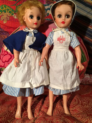 Vintage Dee an Cee dolls, teen nurse dolls