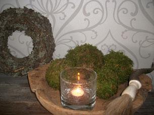 zelf mosballen maken door Sfeer & Smaak, landelijke decoratie en streekproducten