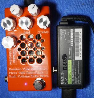 DIY Tube Overdrive Guitar Effect Pedal  - Hight Voltage Tube Drive 高電圧真空管オーバードライブエフェクター自作 真空管ディストーション