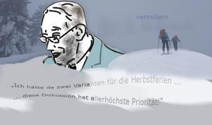 Herbstferien: Faßmanns Zweiervariante ist Zunder für eine laute Ablenkungsdiskussion    Bild:spagra
