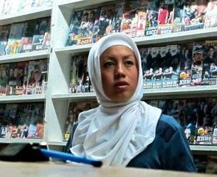 stolze Muslime in der Videothek
