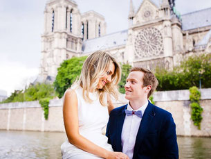elopement in paris near notre dame de paris
