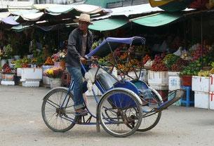 Cyclo-pousse à Phnom Penh