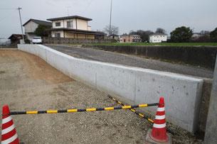 造成工事 コンクリート壁
