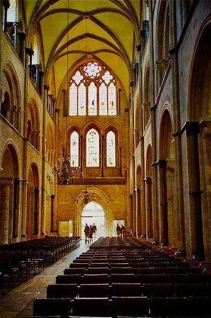 die renovierte Cathedrale in Exeter ein Touristen-Highlight