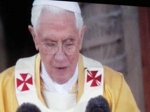 Papst Benedikt bei der Einweihungsfeier